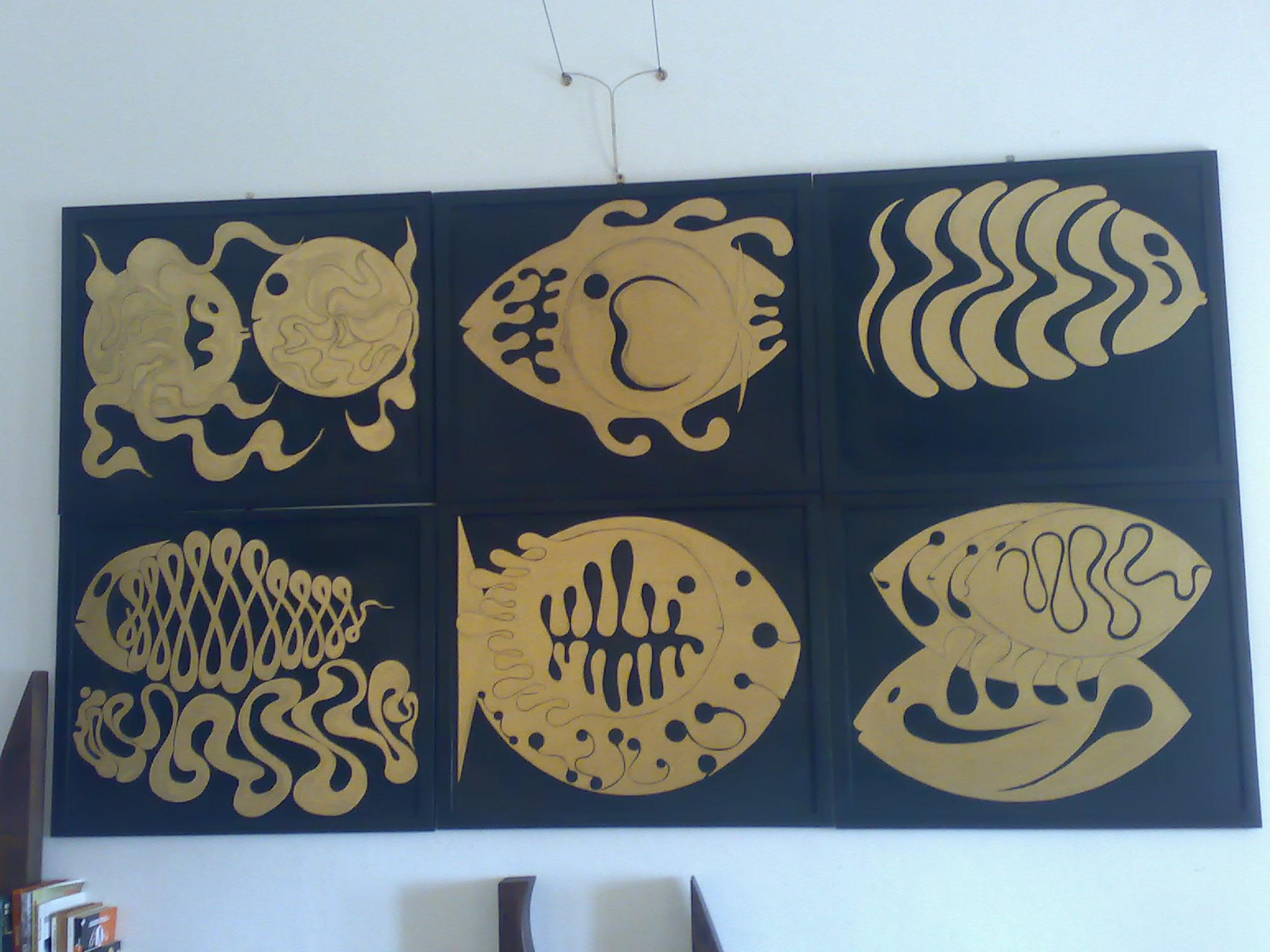 pesci 1 2003 legno sestetto 55x55 1